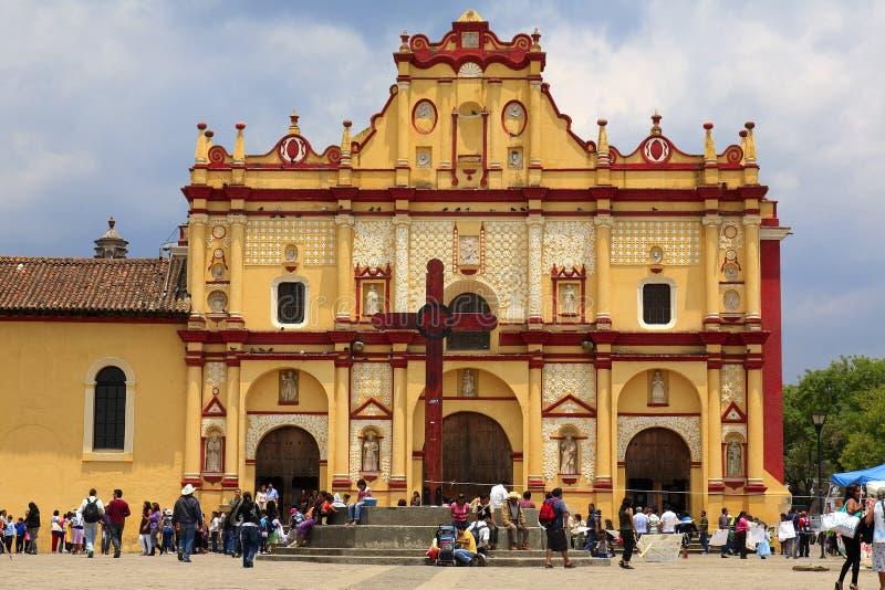Cattedrale del San Cristobal de Las Casas fotografia stock