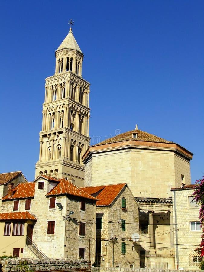 Cattedrale del san Domnius, spaccatura immagine stock