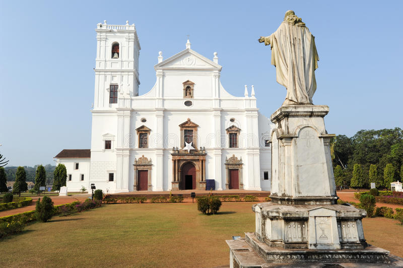 Cattedrale del Se in vecchio Goa, Goa fotografie stock