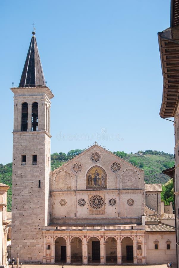 Cattedrale del XII secolo di Spoleto fotografia stock libera da diritti