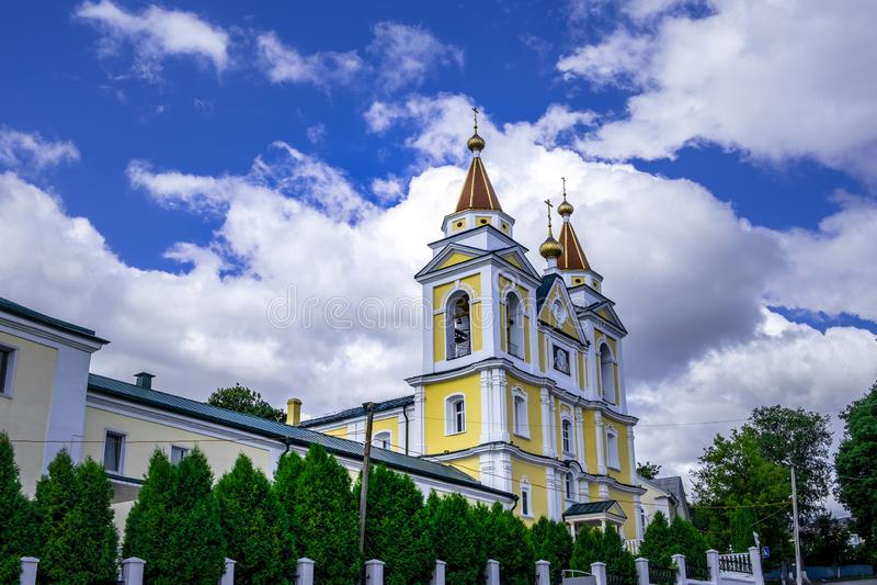 Cattedrale dell'arcangelo Michael in Mazyr fotografia stock