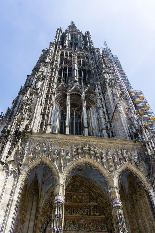 Cattedrale della città Ulm Baden-Wurttemberg Germania fotografie stock libere da diritti