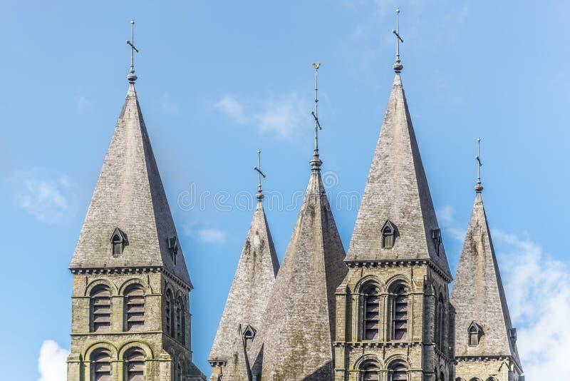 Cattedrale della nostra signora di Tournai nel Belgio fotografia stock libera da diritti