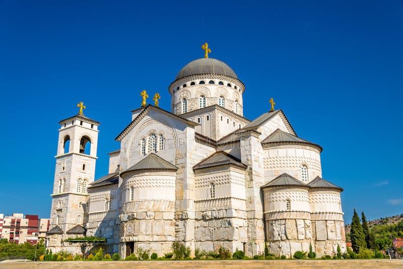 Cattedrale della resurrezione di Cristo a Podgorica fotografia stock