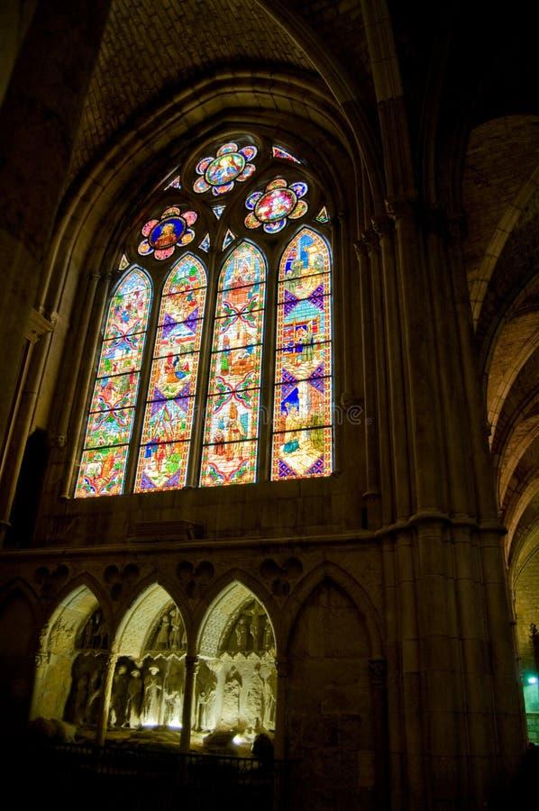 Cattedrale della Santa Maria de Leon. La Spagna fotografie stock