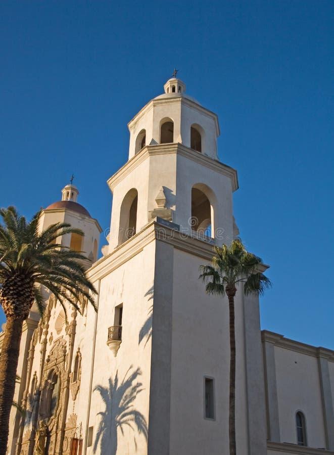 Cattedrale della st Augustine, Tucson, Arizona, S.U.A. fotografia stock