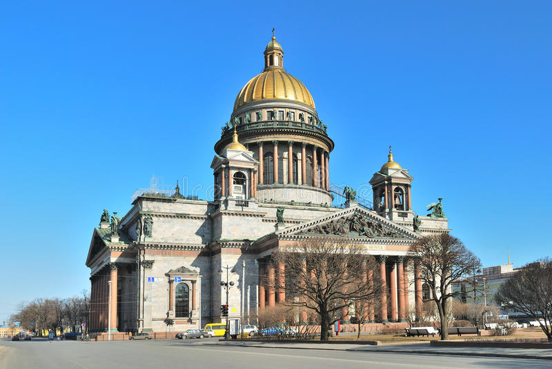 Cattedrale della st Isaac a St Petersburg fotografie stock libere da diritti