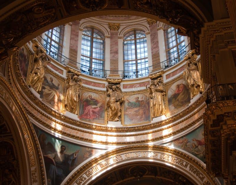 Cattedrale della st Issacs a St Petersburg fotografia stock libera da diritti