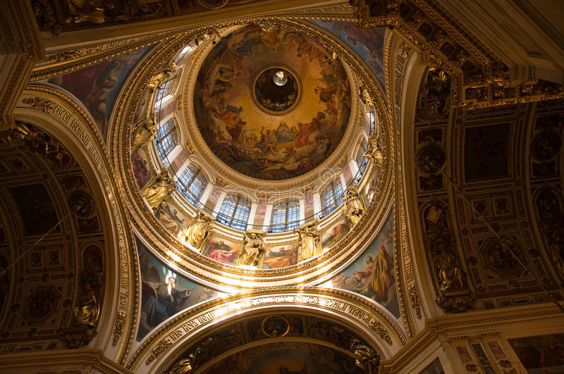 Cattedrale della st Issacs a St Petersburg immagine stock