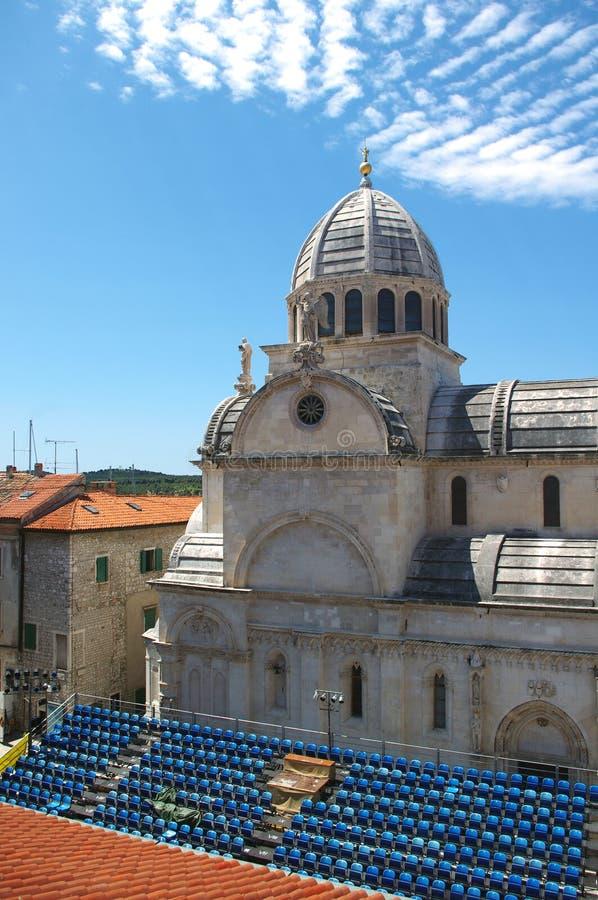 Cattedrale della st James in Sibenik, Croatia fotografia stock libera da diritti