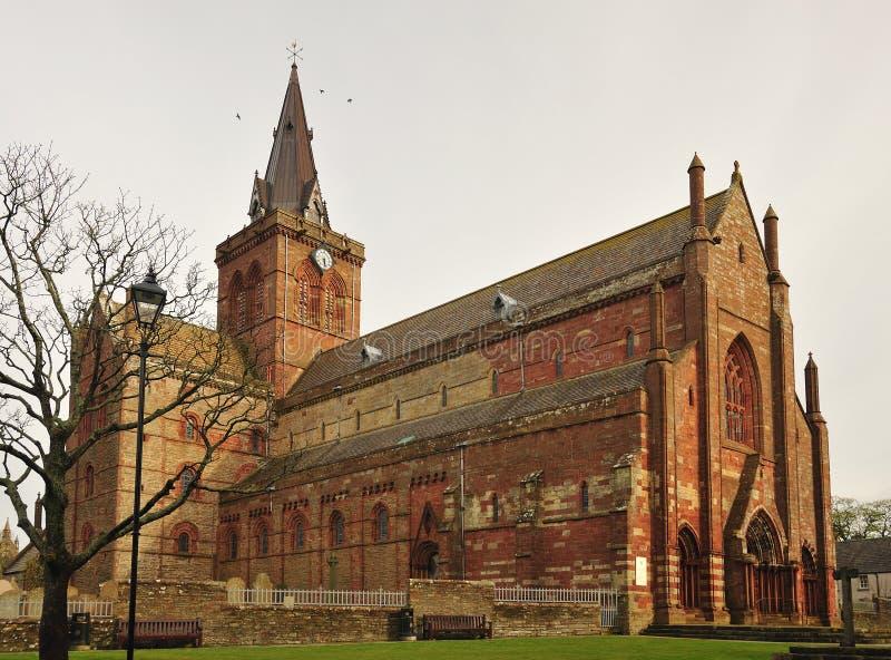 Cattedrale della st Magnus, lato nord fotografia stock
