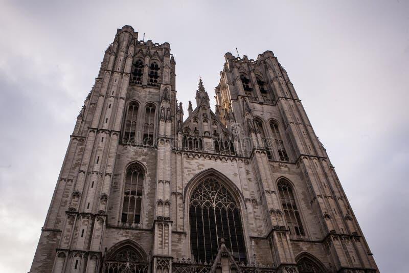 Cattedrale della st Michael e della st Gudula fotografia stock libera da diritti