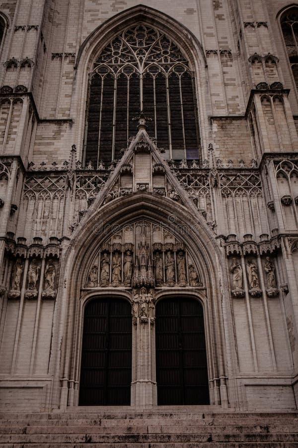 Cattedrale della st Michael e della st Gudula immagini stock libere da diritti