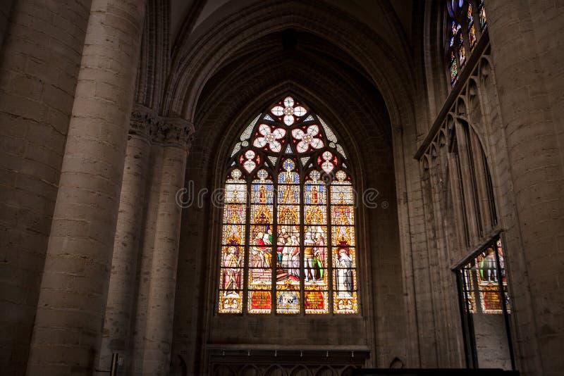 Cattedrale della st Michael e della st Gudula immagini stock