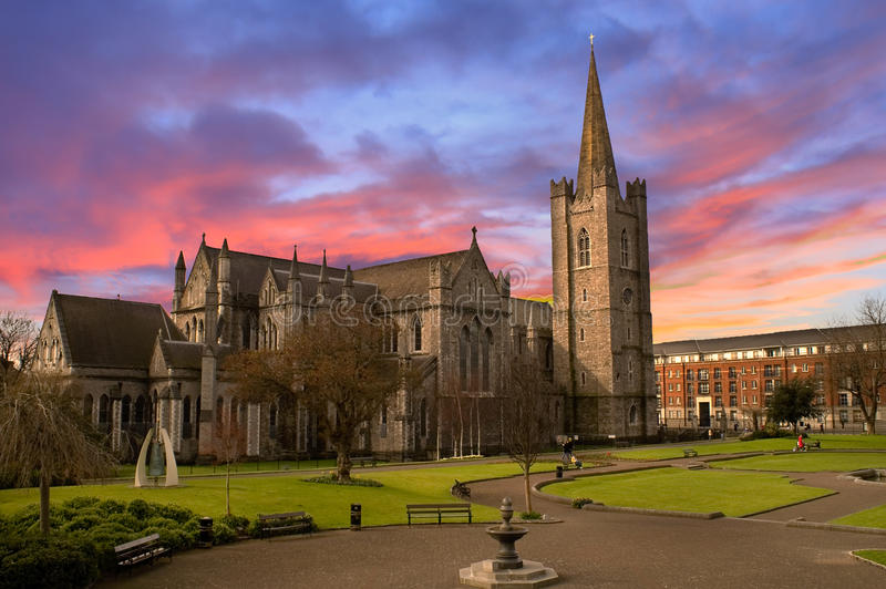 Cattedrale della st Patrick a Dublino, Irlanda fotografie stock