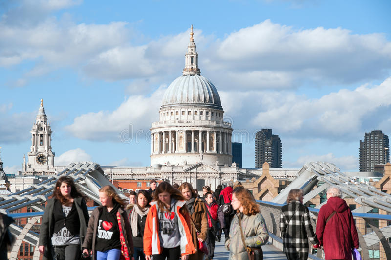 Cattedrale della st Paul, Londra - Inghilterra fotografia stock libera da diritti