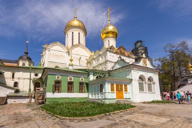 Cattedrale della trinità alla st Sergius Lavra della trinità santa fotografie stock libere da diritti