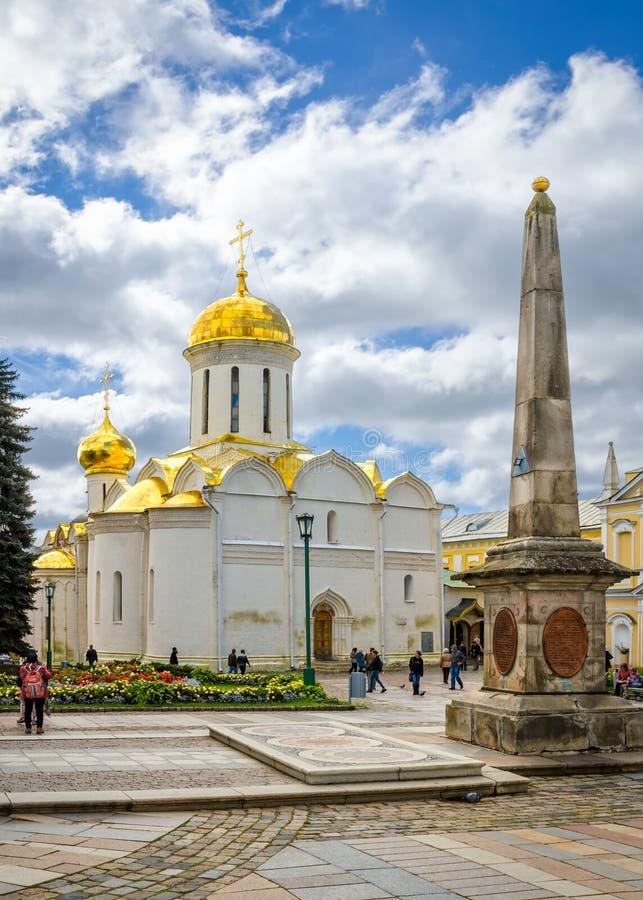 Cattedrale della trinità in Segiyev Posad, Russia immagini stock
