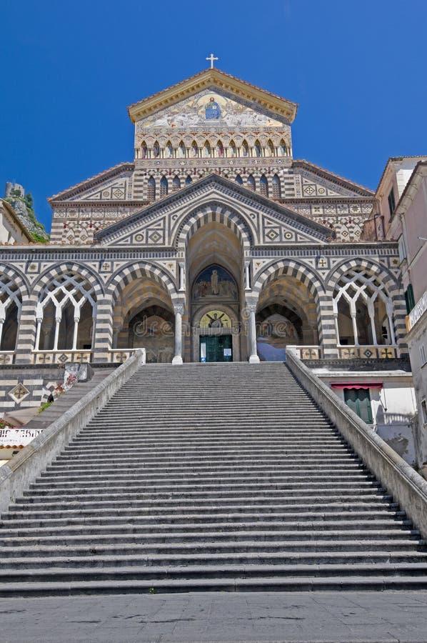 Cattedrale di Amalfi immagini stock