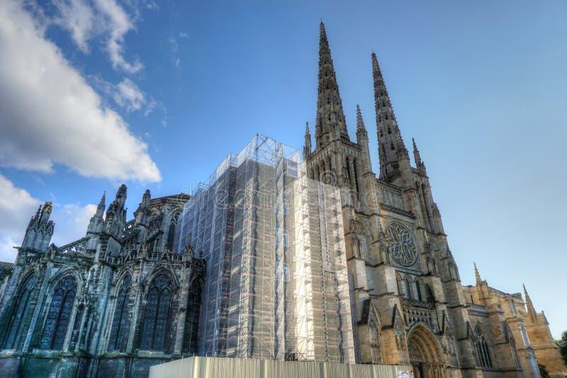 Cattedrale di Andre del san in Bordeaux fotografia stock libera da diritti