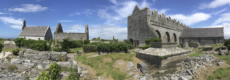 Cattedrale di Ardfert - contea Kerry - Irlanda immagine stock