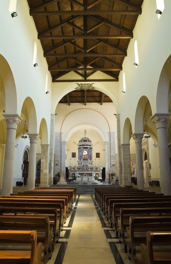Cattedrale di Assunta Minervino Murge La Puglia L'Italia immagini stock libere da diritti