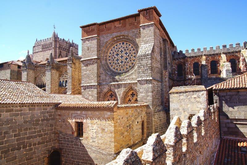 Cattedrale di Avila fotografie stock