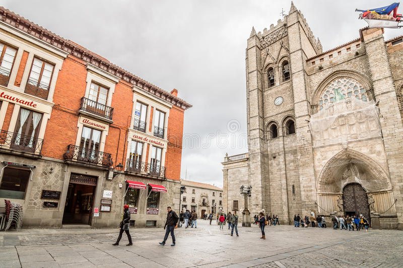 Cattedrale di Avila fotografia stock