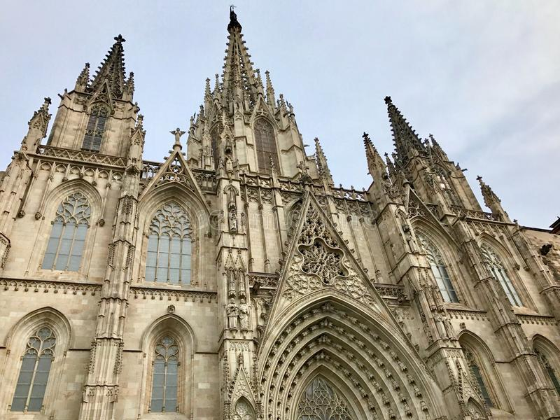 Cattedrale di Barcellona fotografia stock