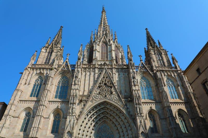 Cattedrale di Barcellona, Catalogna, Spagna fotografie stock libere da diritti