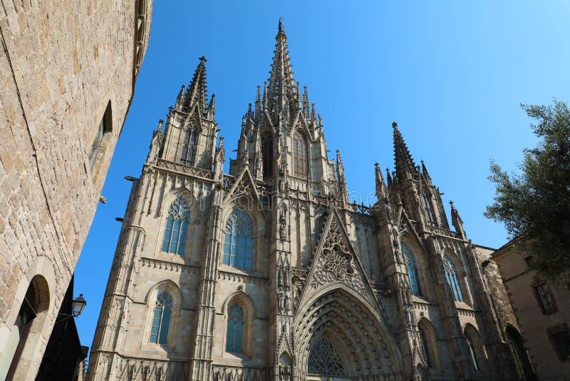 Cattedrale di Barcellona, Catalogna, Spagna fotografia stock libera da diritti
