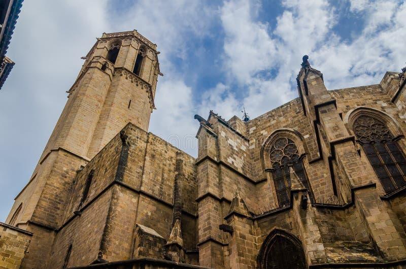 Cattedrale di Barcellona nel quarto gotico fotografie stock libere da diritti