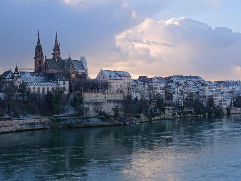 Cattedrale di Basilea immagini stock libere da diritti