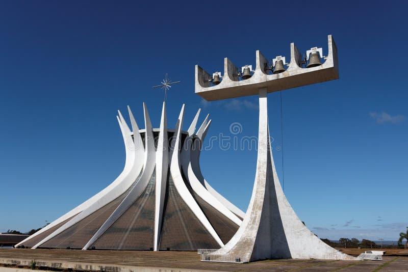 Cattedrale di Brasilia fotografia stock libera da diritti