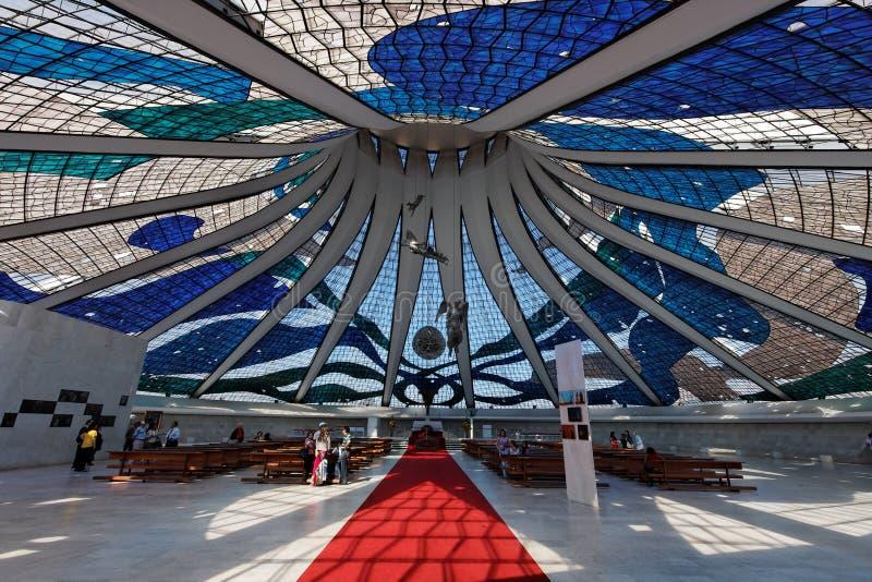 Cattedrale di Brasilia immagine stock libera da diritti