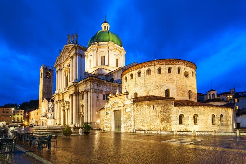 Cattedrale di Brescia in Italia settentrionale immagine stock libera da diritti