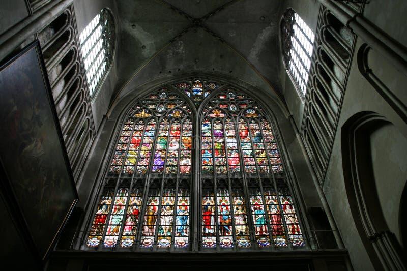 Cattedrale di Bruges fotografie stock libere da diritti