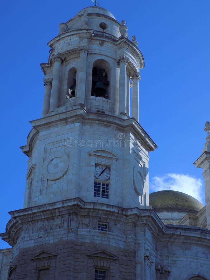 Cattedrale di Cadice Torre-Andalusia-Spagna fotografia stock libera da diritti