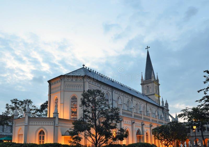 Cattedrale di CHIJMES a Singapore immagini stock