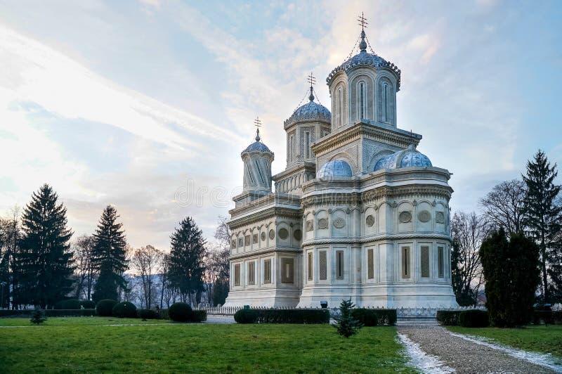 Cattedrale di Curtea de Arges Orthodox fotografie stock
