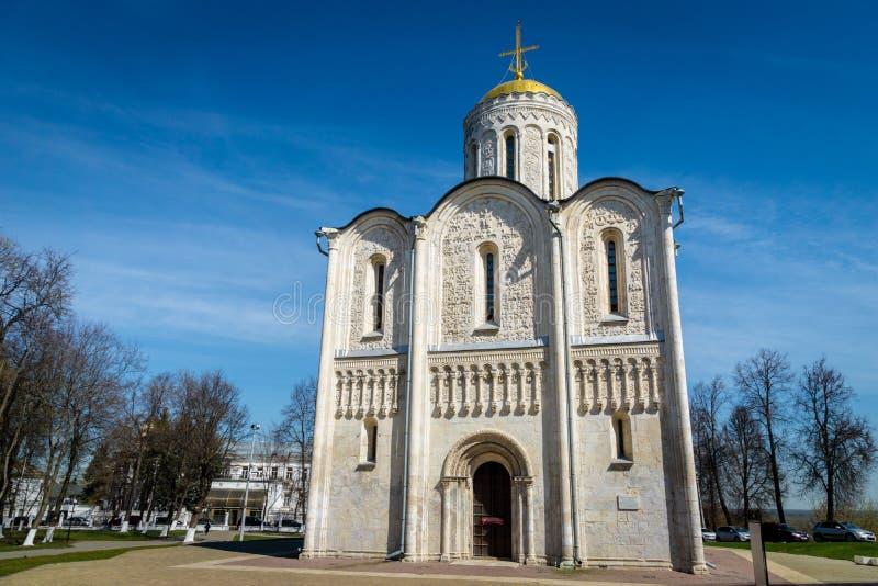 Cattedrale di Dmitrievsky in Vladimir l'anello dorato della Russia fotografia stock