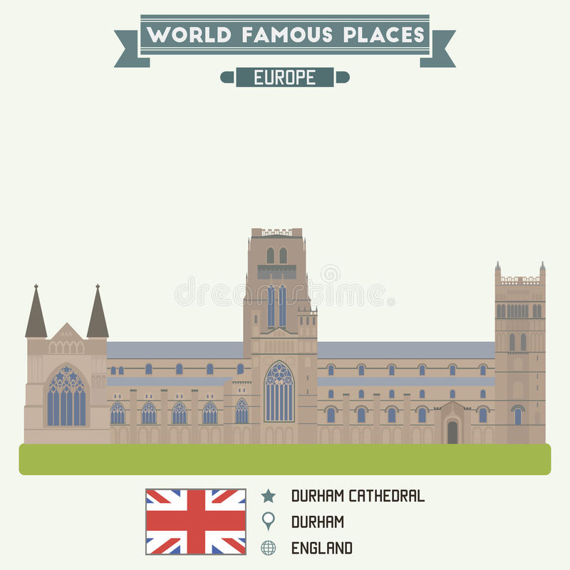 Cattedrale di Durham illustrazione di stock