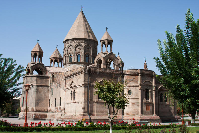 Cattedrale di Echmiadzin in Armenia immagine stock