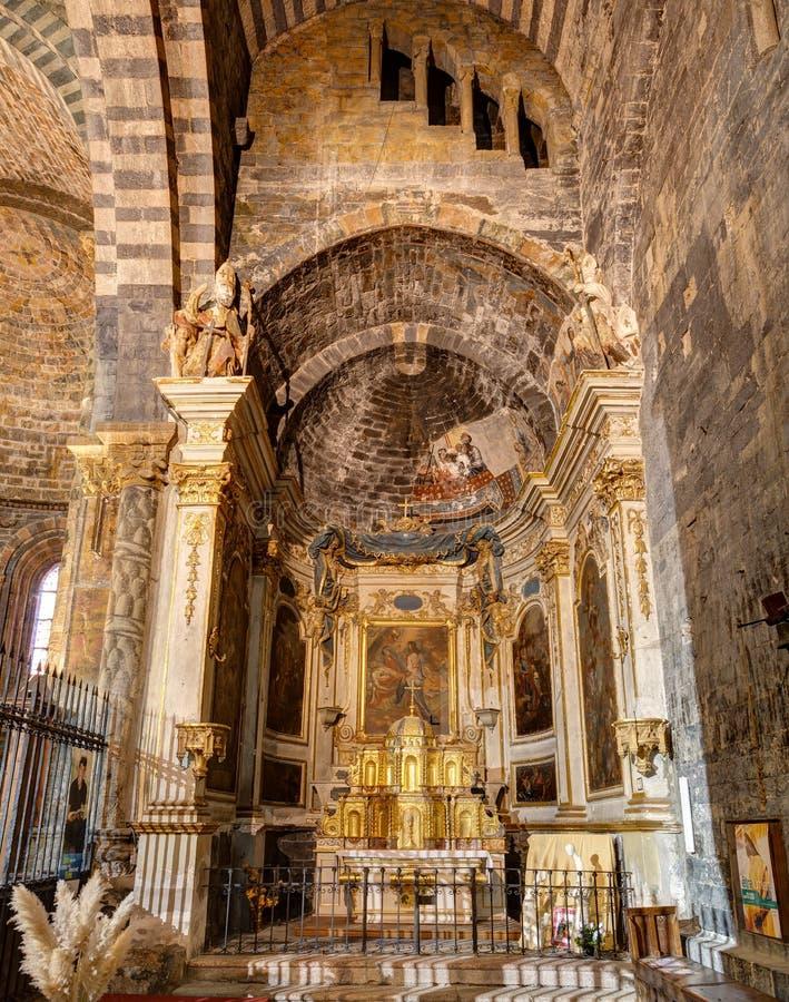 Cattedrale di Embrun - Embrun - Alpes - la Francia immagine stock libera da diritti