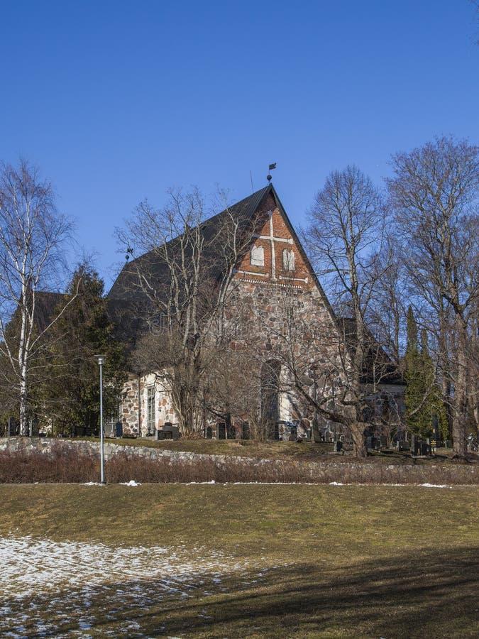 Cattedrale di Espoo in molla in anticipo fotografie stock libere da diritti