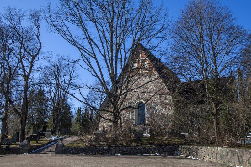 Cattedrale di Espoo in molla in anticipo fotografia stock libera da diritti