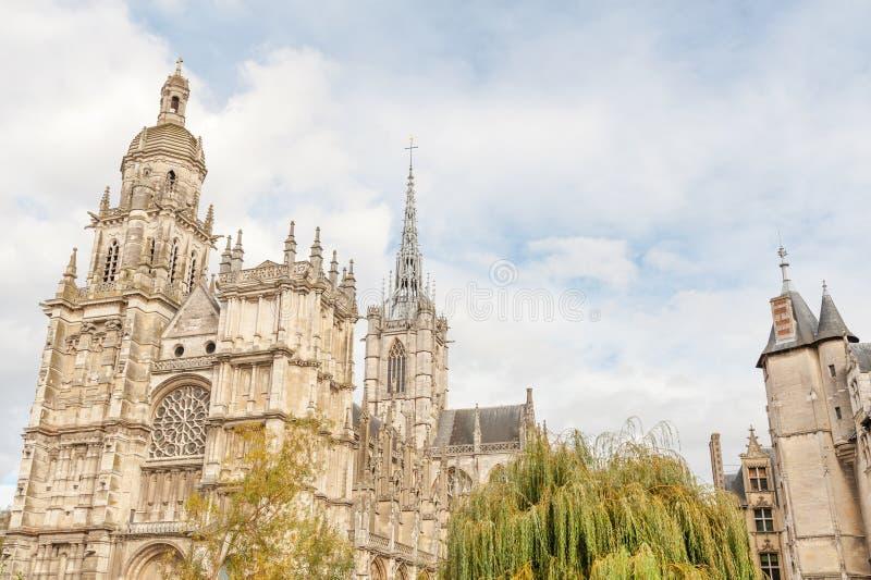 Cattedrale di Evreux in Normandia fotografia stock