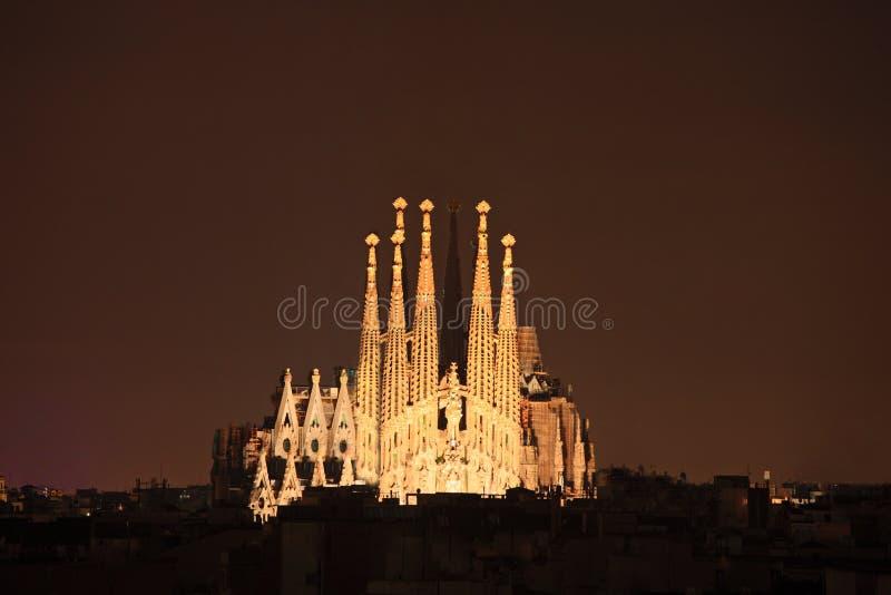 Cattedrale di familia di Sagrada a Barcellona, Spagna fotografia stock libera da diritti