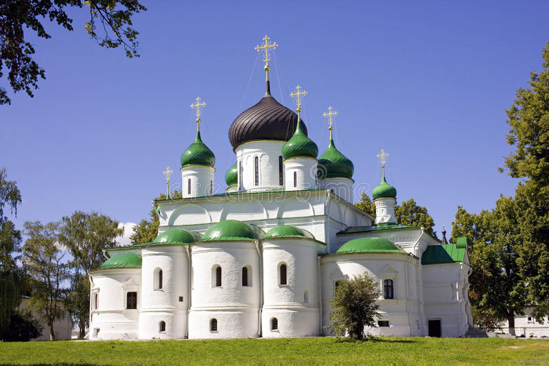 Cattedrale di Fedorovsky del monastero di Pereslavl Zalessky Fedorovsky grande fotografia stock