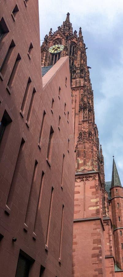 Cattedrale di Francoforte di St Bartholomew immagini stock libere da diritti